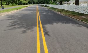 South Lake, North Lake Drive striping is complete, Forest Avenue striping has begun