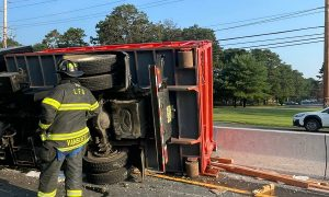 Overturned Truck Causes Messy Morning Commute