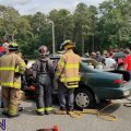 Vehicle extrication training at the fire academy