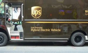 UPS service center is open, they're just staying safe!