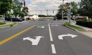 New turning lanes on Forest Avenue