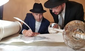 """Lakewood hosts Hachnosas Sefer Torah and Siyum Hashas in Memory of Benny & Malky Weisz Z""""L"""