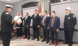 New Lakewood Volunteer Firefighters take the Oath of Office